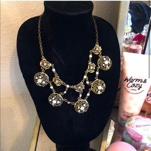 Gorgeous Gold rose double chain necklace